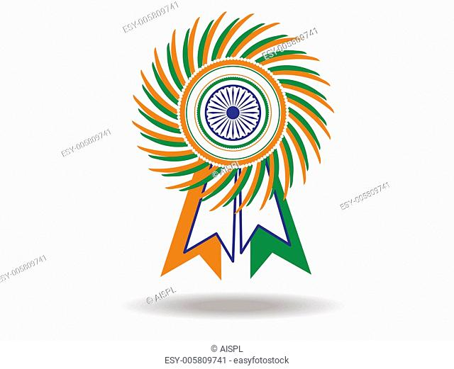 Beautiful batch of Indian National flag. Vector Illustration