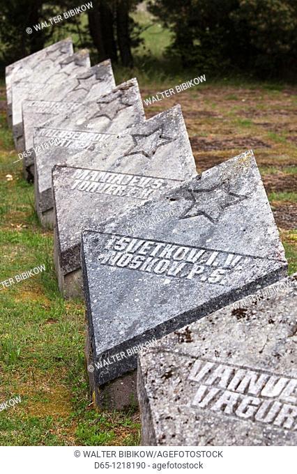 Estonia, Western Estonia Islands, Saaremaa Island, Tehumardi, memorial to Soviet soldiers at the site of the World War Two-era Tehumardi battle, October, 1944
