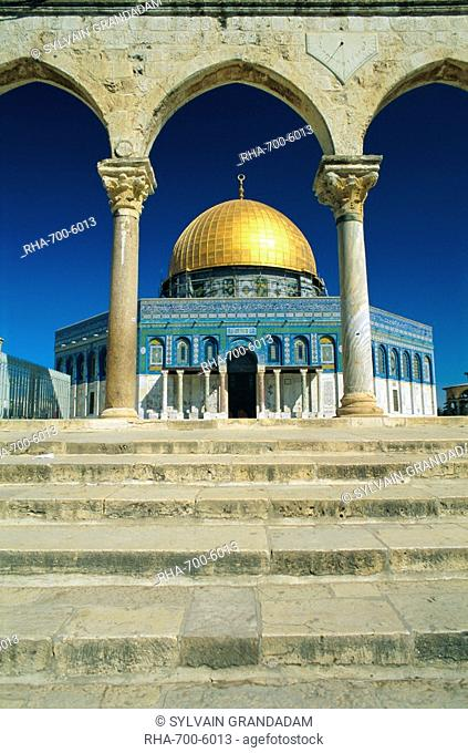 The Dome of the Rock, Temple Mount, Old City, UNESCO World Heritage Site, Jerusalem, Israel, Middle East