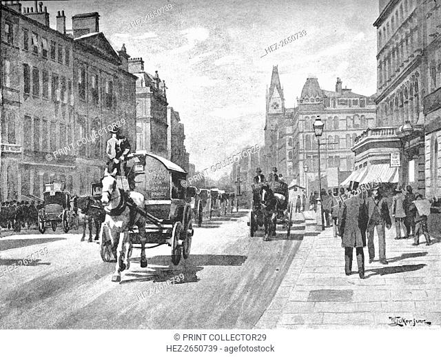'New Bridge Street, Blackfriars', 1891. Artist: William Luker
