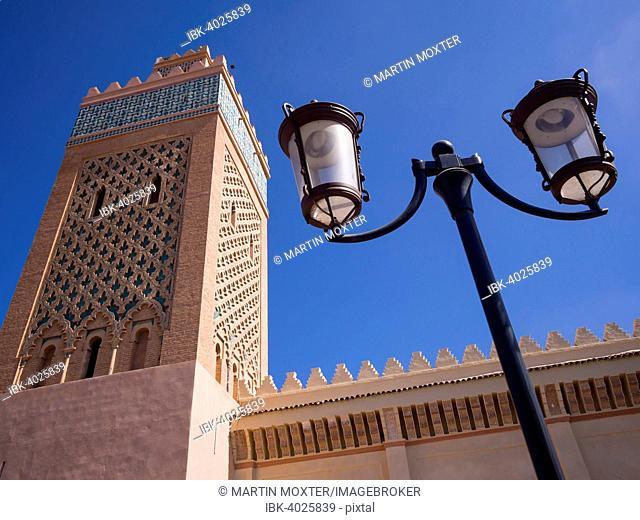 Minaret of the Kasbah Mosque, Medina, Marrakech, Marrakech-Tensift-El Haouz, Morocco