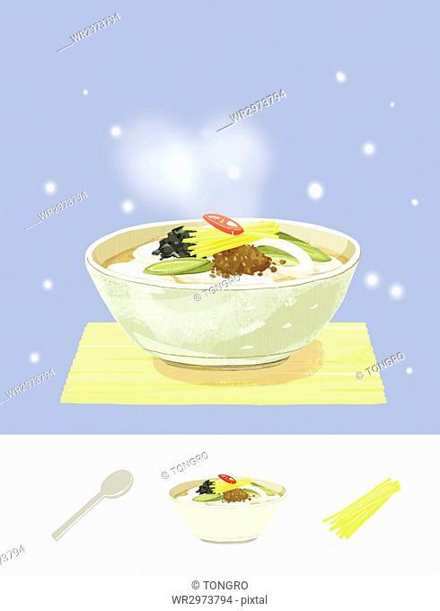 Winter food, Korean rice cake soup