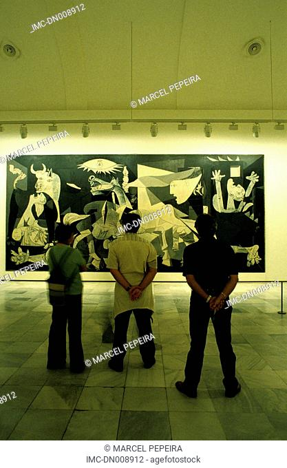 Spain, Madrid, Queen Sofia museum, painting by Picasso