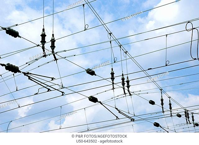 Overhead lines of Deutsch Bahn, Germany