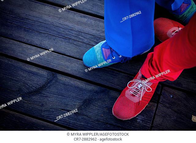 Red and blue fashion