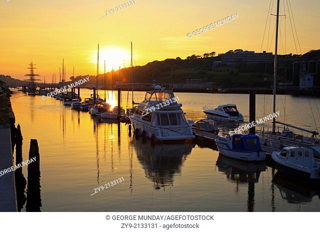 "Yachts and """"Asgard"""" Sail Training Boat, The Marina, The Quays, Waterford City, Ireland"