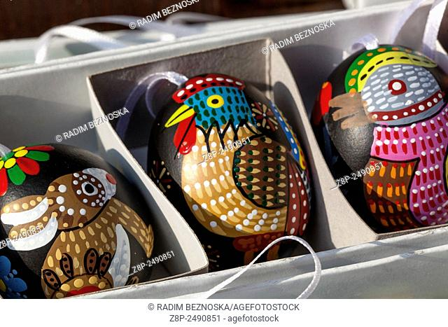 Traditional easter eggs, Prague Czech Republic, Europe