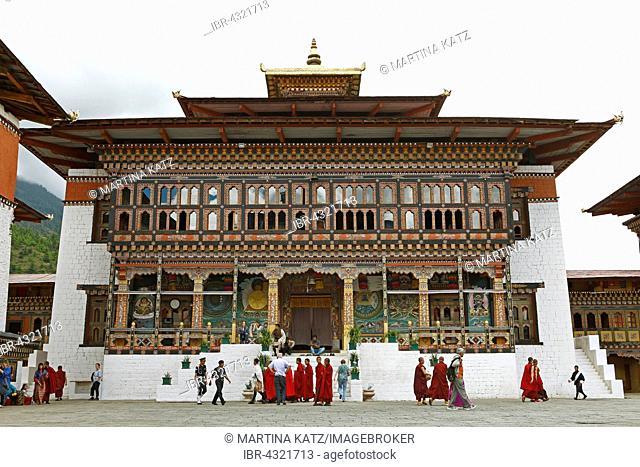 Tashichho Dzong, Buddhistic monastery, Thimphu, Thimphu District, Bhutan