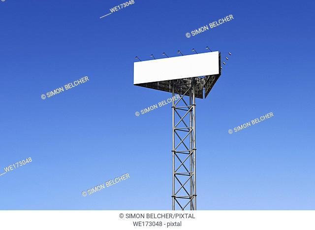 Blank Billboard against a blue sky
