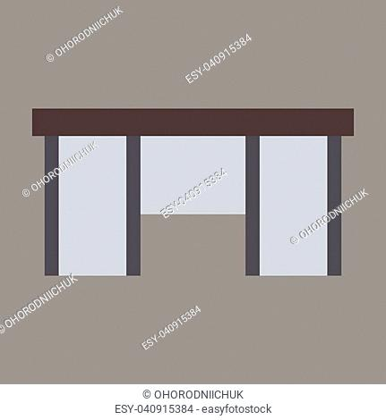 flat icon on theme Arabic business office table