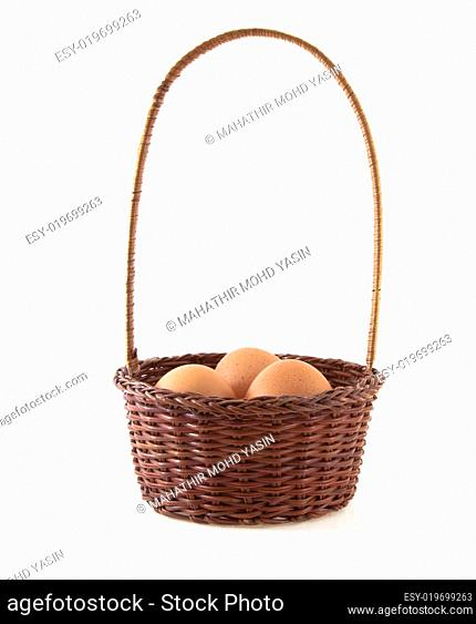 The eggs and the wicker basket