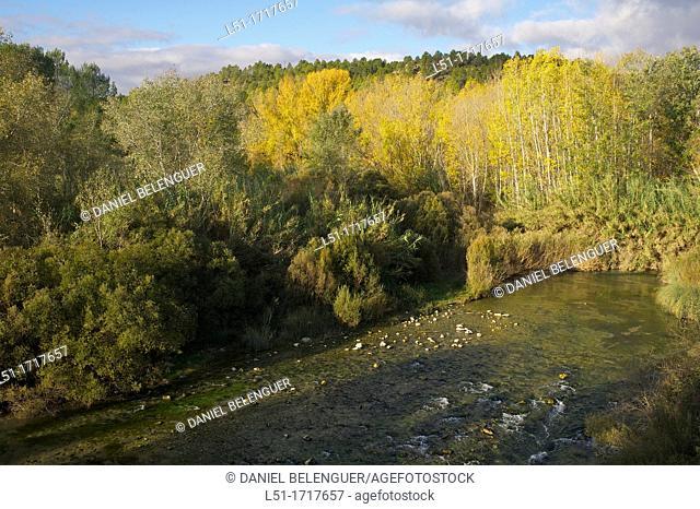 Autumn landscape of the Cabriel river, Cuenca, Spain