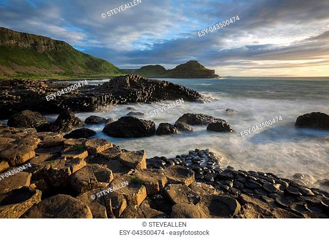 The Giants Causeway in County Antrim in Northern Ireland. A UNESCO World Heritage Site