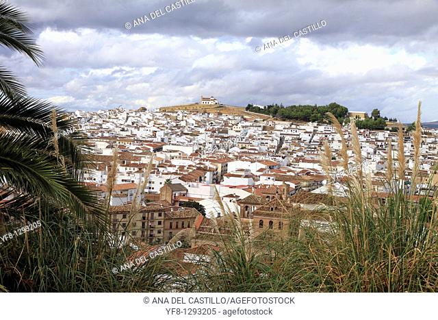 Antequera town view from above Malaga province Andalusia Spain