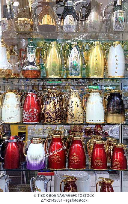 United Arab Emirates, Dubai, Creek, Deira Souq, shop, thermos bottles,