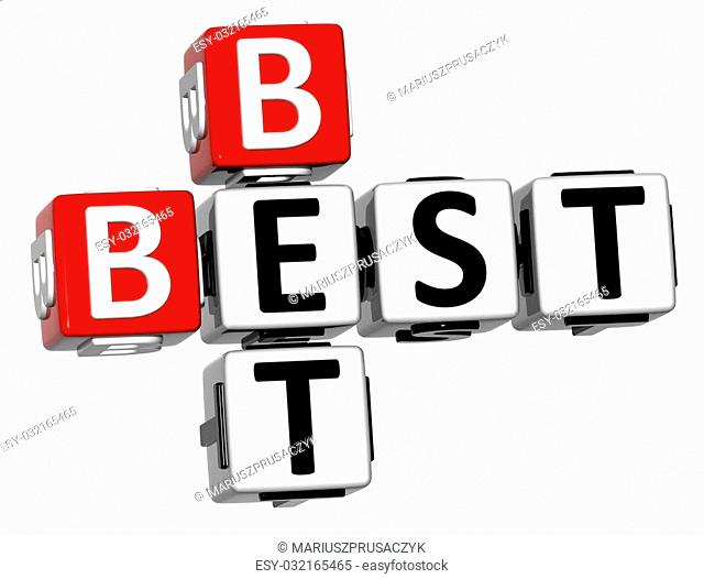 3D Best Bet Crossword on white background