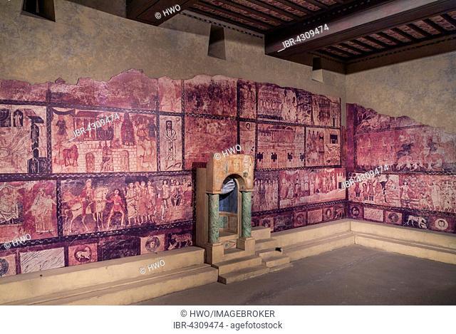 Dura Europos synagogue, murals, 3rd century, ancient city in Syria, Diaspora Museum or Beit Hatfutsot, Tel Aviv