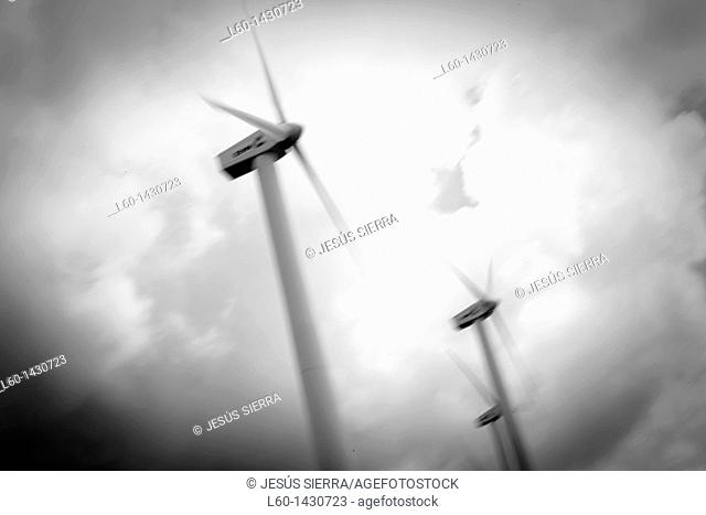 Wind turbines, Pamplona, Navarre, Spain