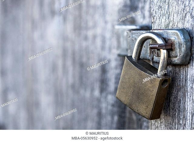 Lock at barn gate