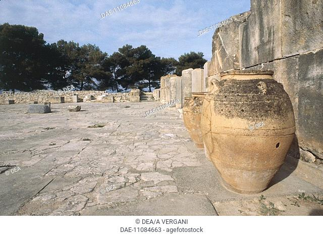 Greece - Crete - Phaistos. Remains of Palace