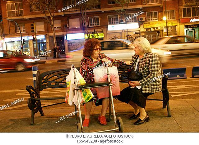 Street scene, Madrid. Spain