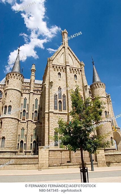 Palacio Episcopal, by Gaudi, Astorga, León province. Castilla y León, Spain