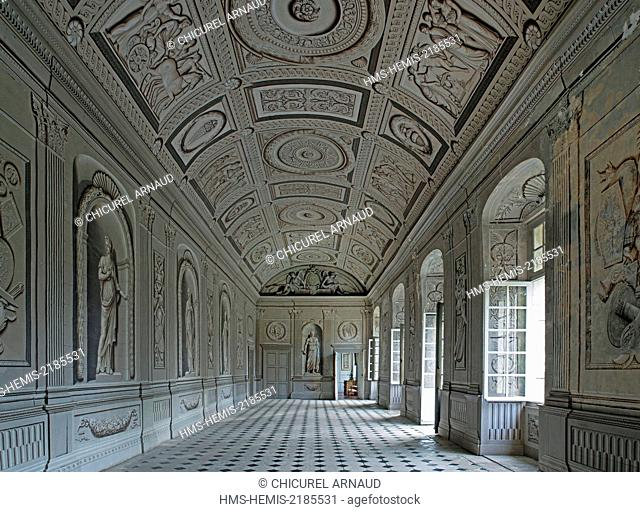 France, Yonne, Tanlay, castle of Tanlay, the gallery