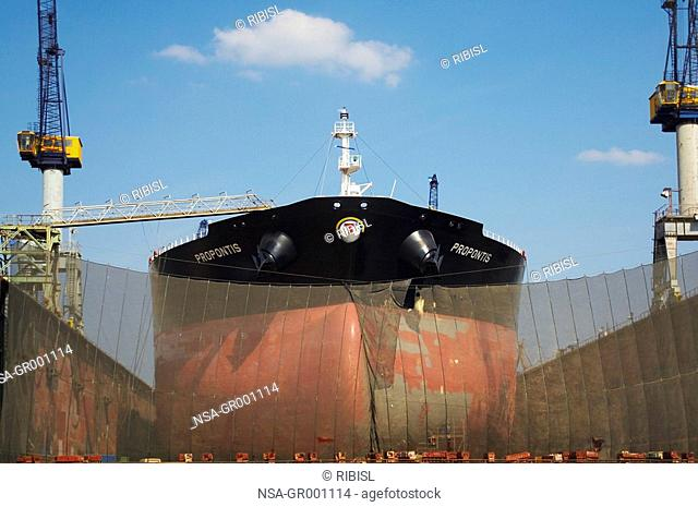 bow of a freight ship