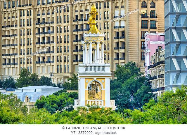 Tower of the Magomayev Azerbaijan State Philharmonic Hall, Baku, Azerbaijan