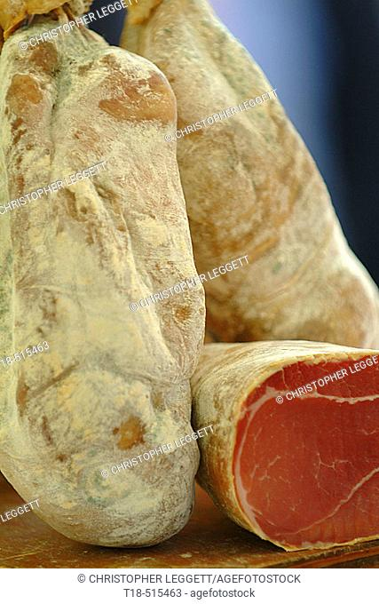 Fresh parma ham, close-up