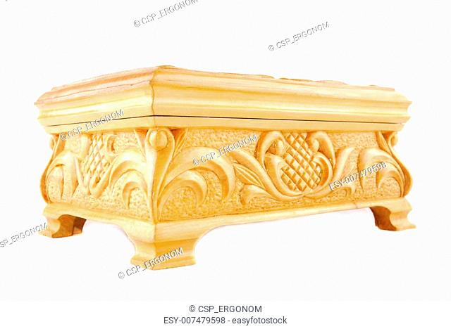 White casket from a tree