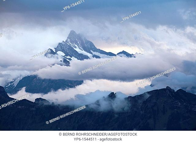 landscape with mountains and clouds, Bernese Oberland, Switzerland
