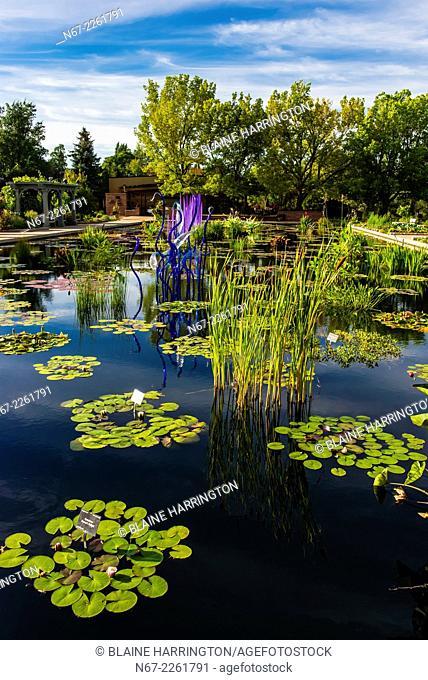 Dale Chihuly Exhibition (blown glass), Denver Botanic Gardens, Denver, Colorado USA