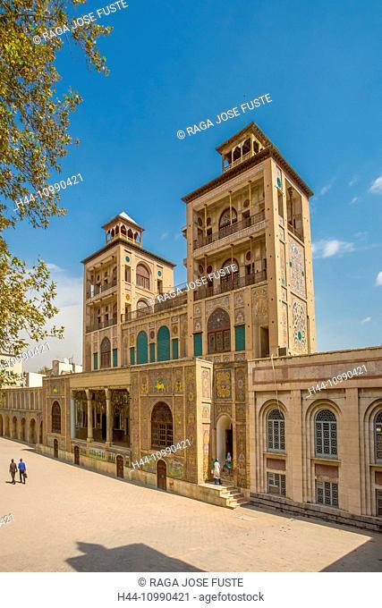 Iran, Teheran City, Golestan Palace Complex, Shams-Al Emarat (edifice of the sun)