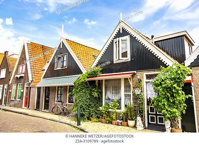 Streets of Volendam, North-Holland, the Netherlands, Europe