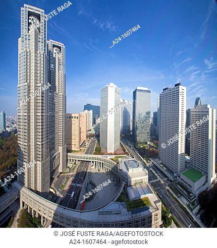 Tocho building (Tokyo's City Hall Building), Shinjuku district, Tokyo, Japan