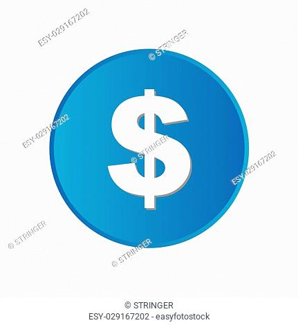 A Colorful square buttons for website or app - Dollar Sign