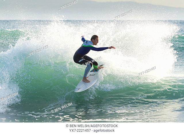 Surfer. Tarifa, Cadiz, Costa de la Luz, Andalusia, Spain, Europe
