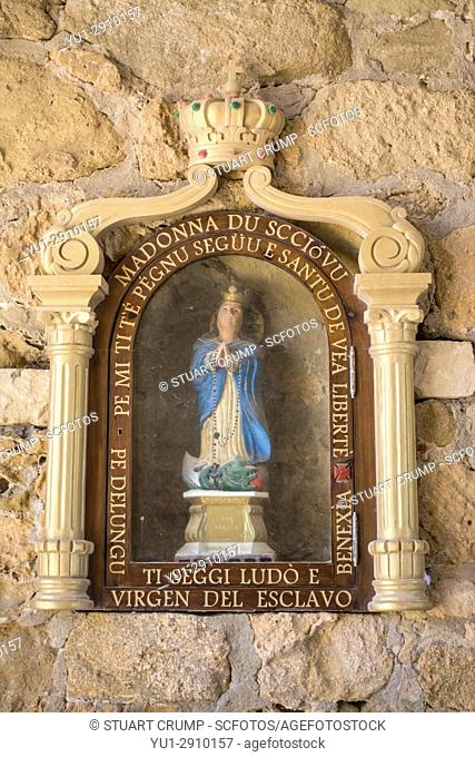 Religous icon to the Virgen del esclavo on the island of Tabarca Spain