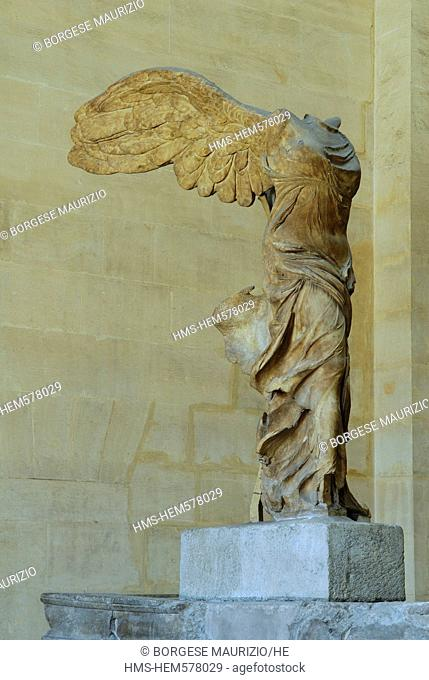 France, Paris, Musee du Louvre Louvre museum, the Winged Victory of Samothrace
