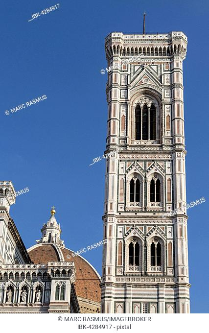 Campanile, bell tower, Florence Cathedral , Florence, Tuscany, Italy