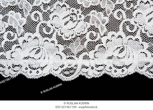 White pattern lace