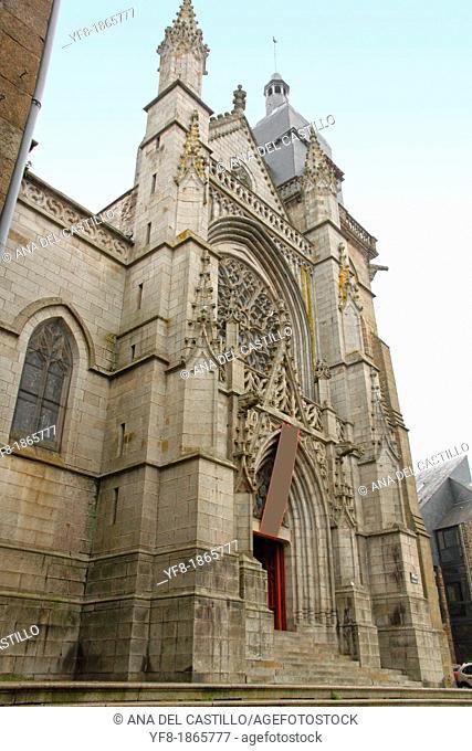 Church of Saint Leonard, Fougeres, Ille-et-Vilaine, Région Bretagne, France