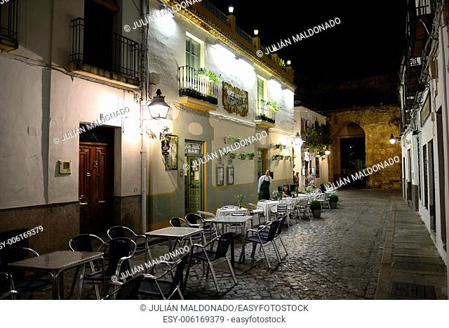 Streets and bars of the old town of Cordoba, Andalucía, Spain