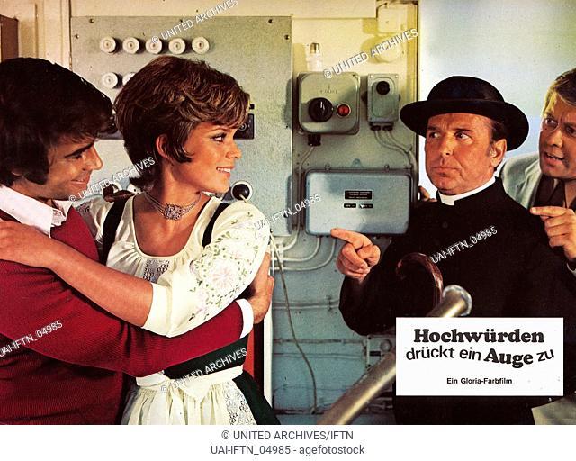 Hochwürden drückt ein Auge zu, Deutschland 1971, Regie: Harald Vock, Darsteller: Roy Black, Uschi Glas, Georg Thomalla, Peter Weck