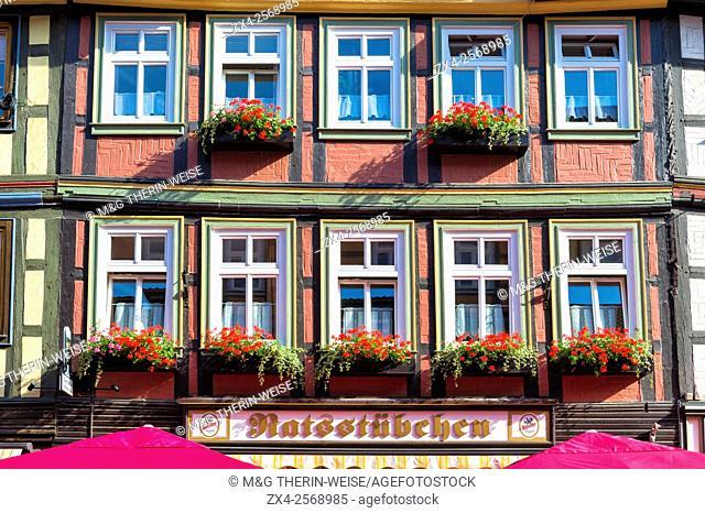 Half-timbered houses, Wernigerode, Harz, Saxony-Anhalt, Germany