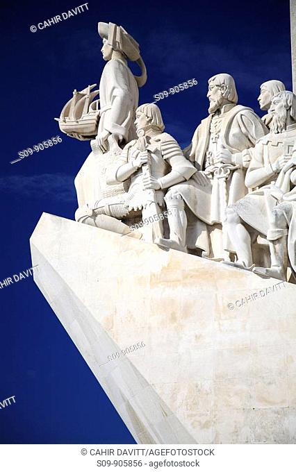 Portugal, Lisboa, Lisbon, Belem, east side of the the Monument of Discoveries Padrao dos Descobrimentos by the architect Cottinelli Telmo and the sculptor...