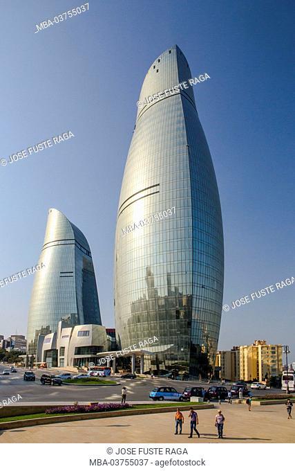Azerbaijan, Baku City, The Flame Towers