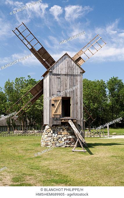 Estonia Baltic States, Saare Region, Saaremaa Island, Angla, windmill on pivot