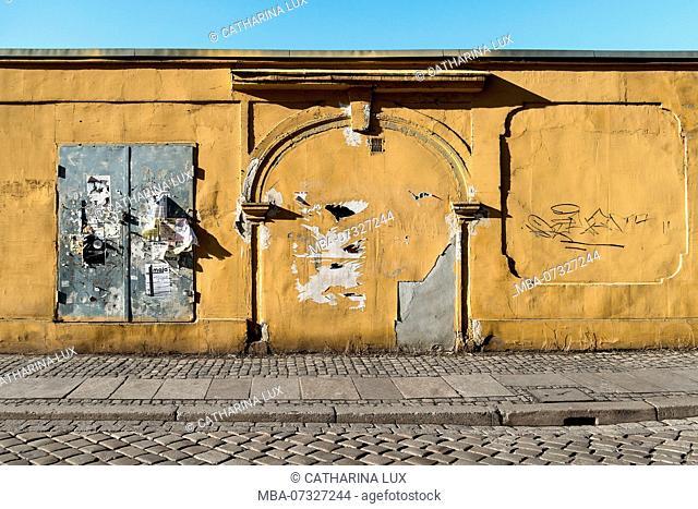 Poland, Wroclaw, island of Ostrów Tumski, wall